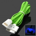 SmilingFace Style USB 2.0 Male to 30-Pin Male Data Charging Cable for iPhone 4 / 4S - Green + White