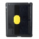 HELLO DEERE Protective PU Leather Case for Ipad 2 /3 / 4 - Yellow + Black