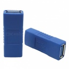 USB 3.0 Female to Female Extension Adapters - Blue + Silver (2 PCS)