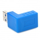 USB 3.0 Male to Female 90 Degree Right Angle Adapter Set - Blue (2 PCS)