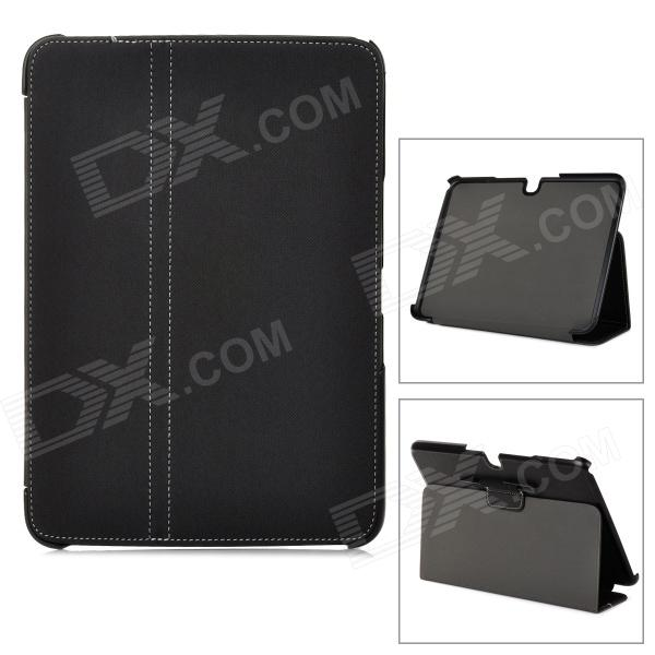 Protective 2-Fold PU Leather Case w/ Capacitive Stylus for Samsung Galaxy Tab 3 P5200 - Black floveme luxury flip stand case for samsung galaxy tab3 10 1 p5200 tab3 pu leather protective cover pouch bag black for tab 3