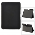 Protective 2-Fold PU Leather Case w/ Capacitive Stylus for Samsung Galaxy Tab 3 P5200 - Black