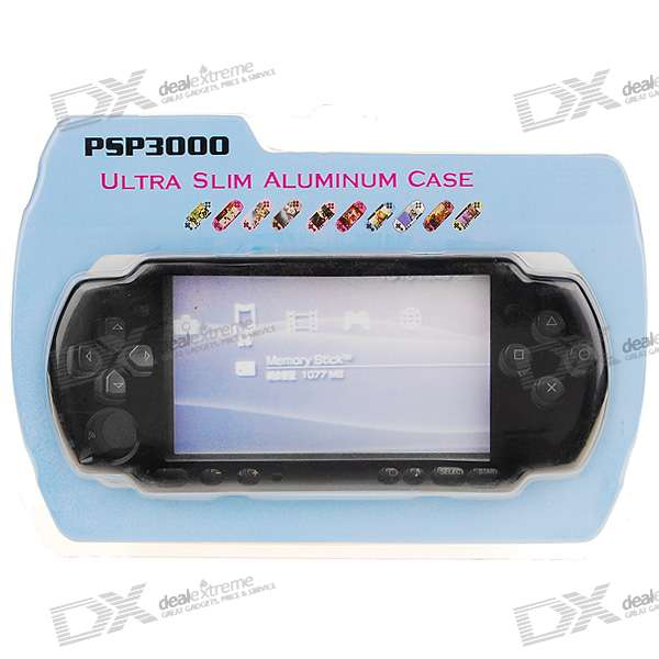 Replacement Slim Aluminum Case for PSP 3000 (Black)