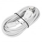 Micro USB Male to USB Male Data Charging Cable for Samsung Galaxy Tab 3 - White (300 CM)