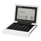 Keep-Mart X1418 Multifunctional 12-digit Calculator + World Time Clock + Temperature Display - White