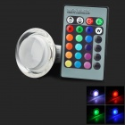 Acrylic Matte Bulb 3w 11lm GU10 RGB Colorful LED Lamp + Remote Control Set - Transparent + White