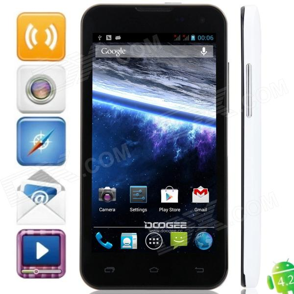 "DOOGEE HotWind DG200 MTK6577 Dual-Core Android 4.2.2 WCDMA Bar Phone w/4.7"", FM, GPS"