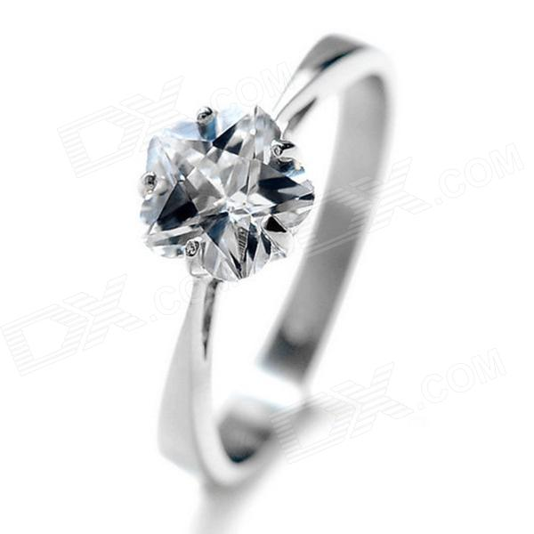 equte women s stainless steel forever love pattern ring blue silver u s size 5 eQute RSSW20C1S9 Elegant Titanium Steel Ring for Women - Silver (USA Size 9)