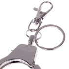 Single Ring Handcuffs Style Zinc Alloy Keychain - Silver