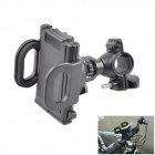 Bicycle / Motorcycle 360 Degree Rotating Mount Holder Support for GPS / Cell Phone / MP4 - Black