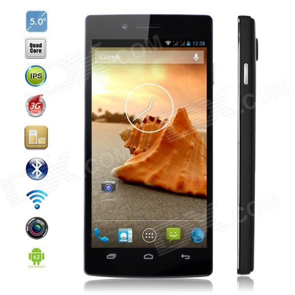 "Iocean X7 turbo MTK6589T Quad-Core Android 4.2 WCDMA Phone w/ 5"" 1080p FHD, Wi-Fi, GPS - Black"