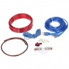 YIYELANG YH-128 1200W Car Amplifier Audio Installation Wires Cables Kit - Red + Blue
