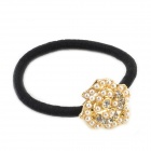 Pearl Roses Hair Band - Pearl White + Brassy + Black
