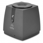 UI-B30 Rubber Bluetooth V3.0 Speaker w/ Microphone / TF / FM for Iphone - Black + Grey