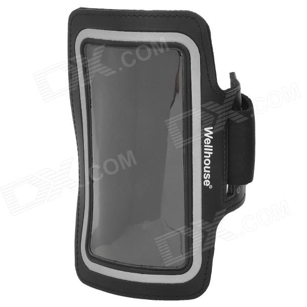 Wellhouse WH-00604 Sports Gym PU + Neoprene Armband Case for Samsung Galaxy Note II - Black
