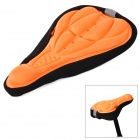ACACIA Bicycle 3D Breathable Saddle Cover w/ Rope - Black + Orange