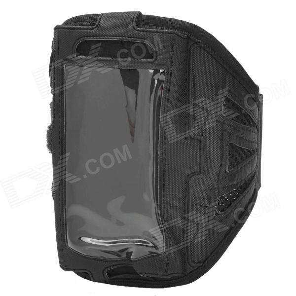 Stylish Sports Gym Mesh Fabric Armband Case for Samsung Galaxy Ace 3 S7272 / S7275 / S7270 - Black