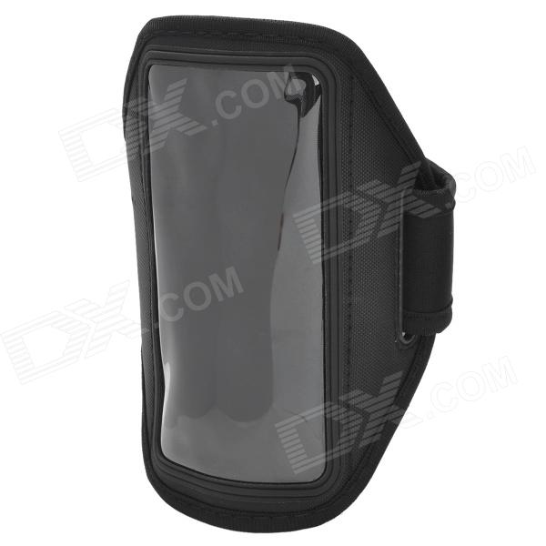 Stylish Sports Gym PVC + Neoprene Armband Case for Sony Xperia SP / M35H / C5302 / C5303 - Black low frequency laser pulse rhinitis treatment anti snore apparatus sinusitis nose therapy massage health care allergy reliever