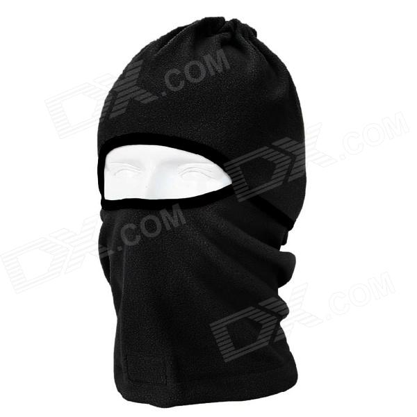 QINGLONGLIN Outdoor Fleece Balaclava Helmet Hat for CS Game - Black