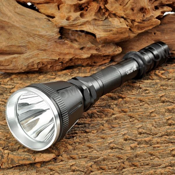 UltraFire XL-7009 800lm 5-Mode White Flashlight - Black (2 x 18650)