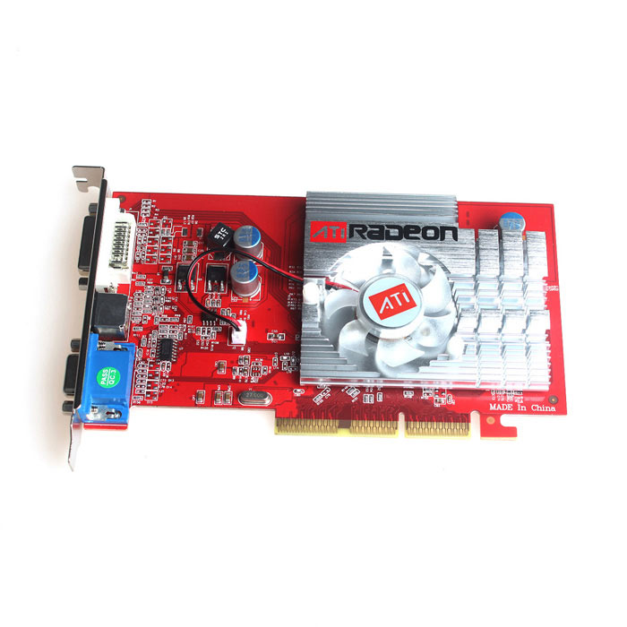 ATI Radeon 9550 256M VGA + S-Video + DVI AGP Video Card dhl ems free shipping new ati radeon 9550 256mb ddr2 agp 4x 8x video card from factory 50pcs lot