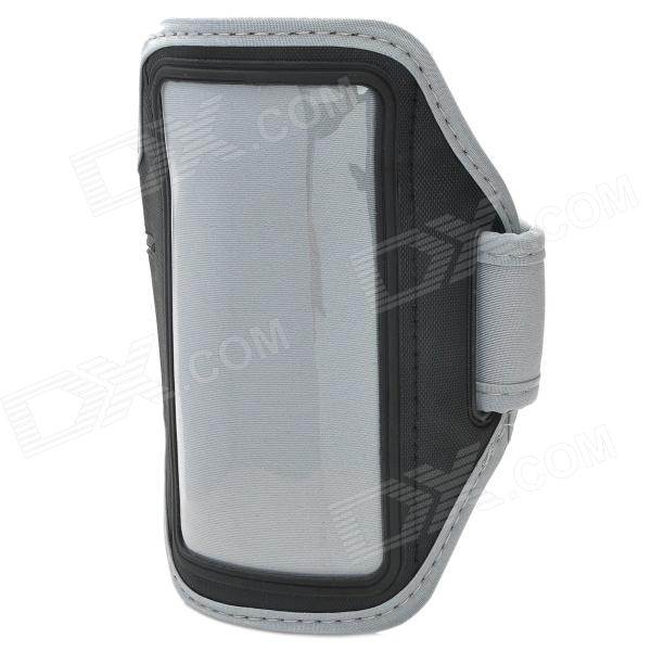 Stylish Sports Gym PVC + Neoprene Armband Case for Sony Xperia SP / M35H / C5302 / C5303 - Grey