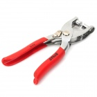 BYXAS PLA-101 6-in-1 Handheld Stainless Steel Leather Hole Punch Pliers - Red + Silver