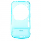 REMAX Stylish TPU Back Case + Clear Screen Guard Film Set for Samsung S4 ZOOM C1010 - Blue