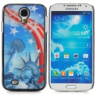 Stylish 3D Statue of Liberty Pattern Protective Plastic Back Case for Samsung Galaxy S4 - Multicolor