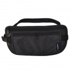 Outdoor Sports Nylon Zipper Waist Bag - Black