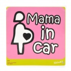 """Mama in Car"" Car Warning Mark Sticker"
