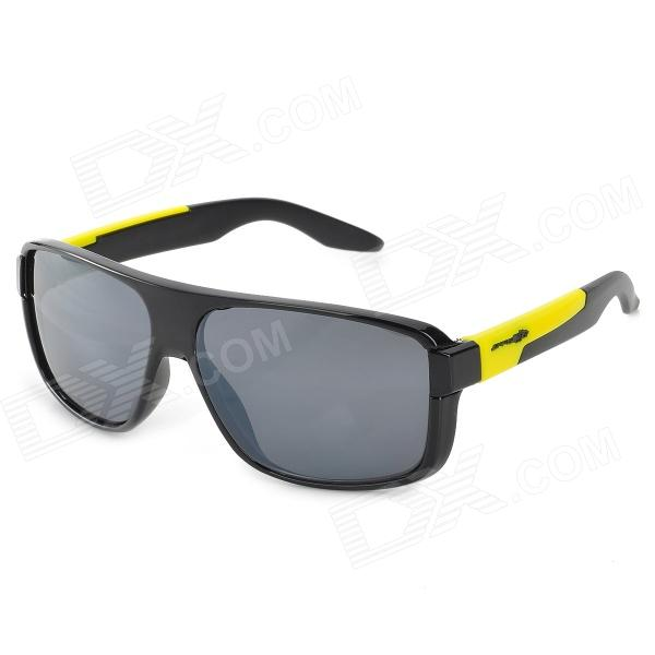 ANAITE 2071 Stylish Protective UV400 Sunglasses - Black + Yellow