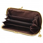 Fashionable Retro Woman's PU Leather Handbag Purse - Black