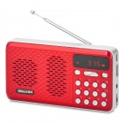 Shinco H-01 Portable Mini Speaker MP3 Player w/ TF / U Disk Slot - Red + White