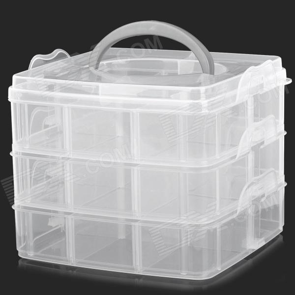 00005 Convenient 3-deck Detachable PP Storage Organizer Box - Translucent White Thousand Oaks объявления о покупке