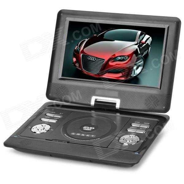 NS-1129 10.1'' Portable DVD Player w/ Game / Radio Function - Black 1563u 1 din 12v car radio audio stereo mp3 players cd player support usb sd mp3 player aux dvd vcd cd player with remote control