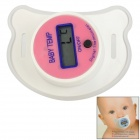 "Baby's Helpful 0.8"" Display Pacifier Digital Body Temperature Thermometer - Pink + White (1 x LR41)"