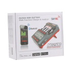 SKYRC SK-100059-01 NC2500 4 x AA / AAA NiMH Battery Charger & Analyzer w/ Bluetooth - Black + Red