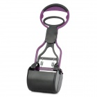 Handy Plastic Poop Scooper for Pet Dog / Cat - Black + Purple
