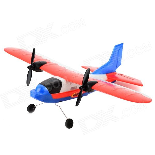 ZY-806 2-CH Remote Control EPP Foam R/C Airplane Glider - Red + Blue + White + Black (6 x AA) single sided blue ccs foam pad by presta