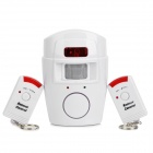 SW121 Adjustable IR Control Anti-theft Radar Detector Security Apparatus + Controller Set - White