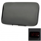 "4.5"" Screen Convenient Voice Control Silent Digital Clock w/ Alarm - Black (4 x AAA)"