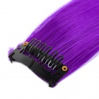 Decorative Hair Slice Extension Wig - Purple