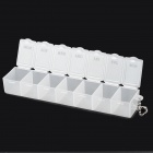 H213 One Week Pill / Capsule Medicine Storage Box - Translucent White