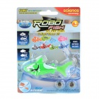 F2 Electronic Shark Toy Pet - Green + White (2 x LR44)