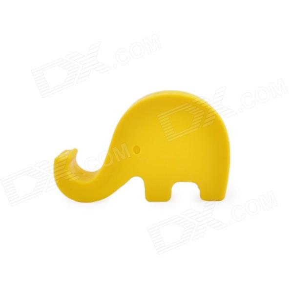 CP-601 Silicone Elephant Style Mobile Phone Holder Stand - Yellow