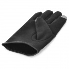 Universal Cotton Two Finger Capacitive Screen Touching Hand Warmer Gloves - Black (Pair / Size M)