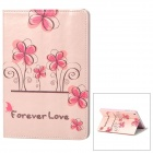 Forever Love Flower Style Protective PU Leather Case w/ Auto Sleep for Ipad MINI - Pink