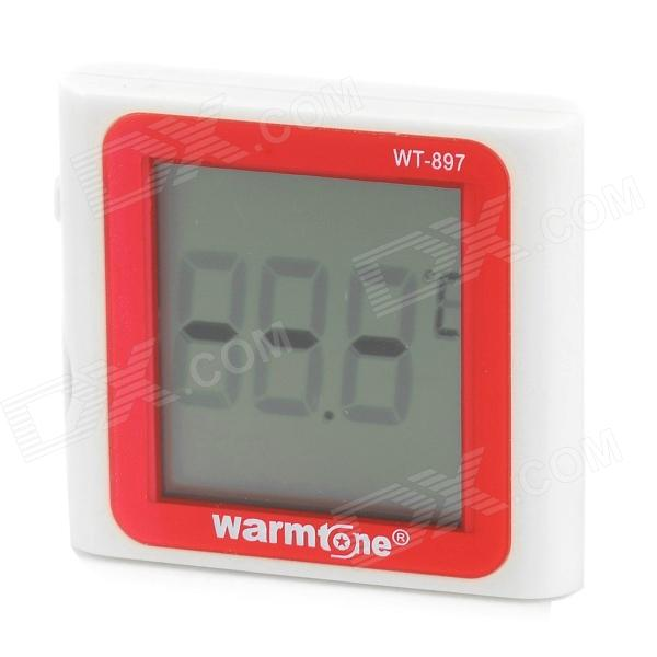 Warmtone WT-897 Induction Type Digital Aquarium Water Thermometer - Beige + Red (1 x AG10)