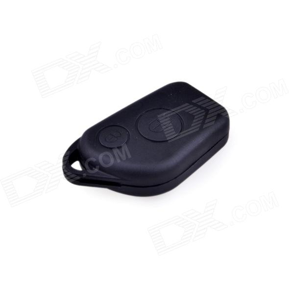 Remote Control Key Shell w/ two Buttons for Citroen Elysee - Black